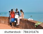 goa.india   november 13  2017 ... | Shutterstock . vector #786141676