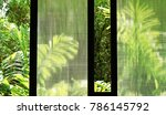 large window on summer | Shutterstock . vector #786145792