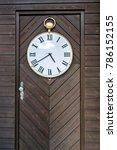 vintage door clock | Shutterstock . vector #786152155