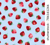 pattern of the strawberry  i... | Shutterstock .eps vector #786161266