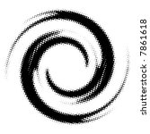spiral black and white | Shutterstock . vector #7861618
