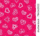 valentine's day. vector... | Shutterstock .eps vector #786162022
