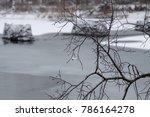 rock pylons in a river | Shutterstock . vector #786164278