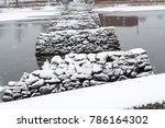 rock pylons in a river | Shutterstock . vector #786164302