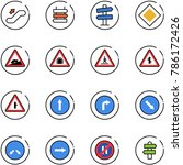 line vector icon set  ... | Shutterstock .eps vector #786172426