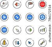 line vector icon set  ... | Shutterstock .eps vector #786172516