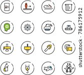 line vector icon set   coffee... | Shutterstock .eps vector #786175912