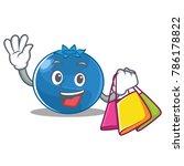 shopping blueberry character... | Shutterstock .eps vector #786178822