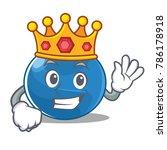 king blueberry character...   Shutterstock .eps vector #786178918