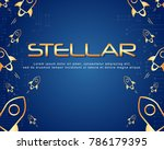blockchain stellar background... | Shutterstock .eps vector #786179395