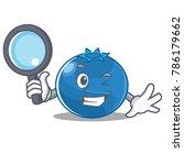 detective blueberry character... | Shutterstock .eps vector #786179662