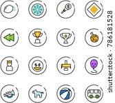 line vector icon set   lemon... | Shutterstock .eps vector #786181528