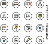 line vector icon set   fenced... | Shutterstock .eps vector #786181615