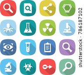 flat vector icon set  ... | Shutterstock .eps vector #786187102