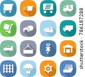 flat vector icon set   delivery ... | Shutterstock .eps vector #786187288