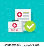 medical box and clinical form... | Shutterstock .eps vector #786201106