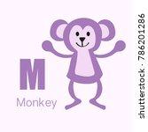 vector of cute english alphabet ... | Shutterstock .eps vector #786201286