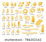 pasta collection. set of... | Shutterstock .eps vector #786202162