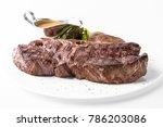 medium rare grilled t bone... | Shutterstock . vector #786203086