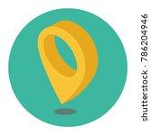 navigational markers of... | Shutterstock .eps vector #786204946