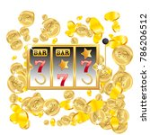 casino. golden slot machine... | Shutterstock .eps vector #786206512