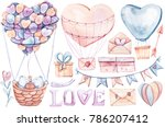 Cute Watercolor Set With White...