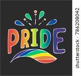 pride   hand drawn illustration | Shutterstock .eps vector #786208042