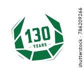 130 years design template.... | Shutterstock .eps vector #786209266