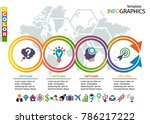infographic template. set... | Shutterstock .eps vector #786217222