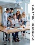 business people working... | Shutterstock . vector #786217846