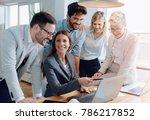 business people working... | Shutterstock . vector #786217852