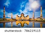 mosque an nuur  the great... | Shutterstock . vector #786219115