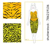 leopard tiger pattern fashion... | Shutterstock .eps vector #786219136