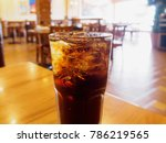 cola glass soft drink with ice... | Shutterstock . vector #786219565
