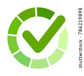 green approved sticker. check...   Shutterstock .eps vector #786219898