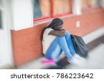 school bullying. afro american... | Shutterstock . vector #786223642