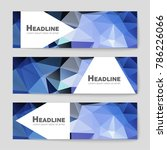 abstract vector layout... | Shutterstock .eps vector #786226066