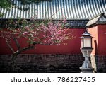 an ancient courtyard with a... | Shutterstock . vector #786227455