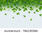 irish shamrock falling leaves... | Shutterstock .eps vector #786230386