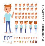 young guy character for your... | Shutterstock .eps vector #786239146