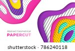 abstract geometrical papercut... | Shutterstock .eps vector #786240118