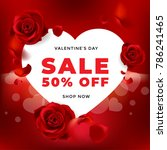 valentines day sale background... | Shutterstock .eps vector #786241465