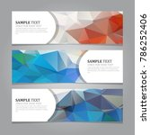 abstract geometric banners | Shutterstock .eps vector #786252406