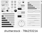 set of black interface switch...
