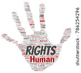 conceptual human rights... | Shutterstock . vector #786254296