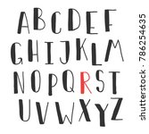 hand drawn cute font for your... | Shutterstock .eps vector #786254635
