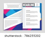 abstract vector layout... | Shutterstock .eps vector #786255202