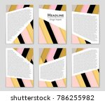 abstract vector layout... | Shutterstock .eps vector #786255982