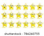 illustration of a smile star... | Shutterstock .eps vector #786260755