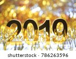 golden 2019 3d digital icon in... | Shutterstock . vector #786263596